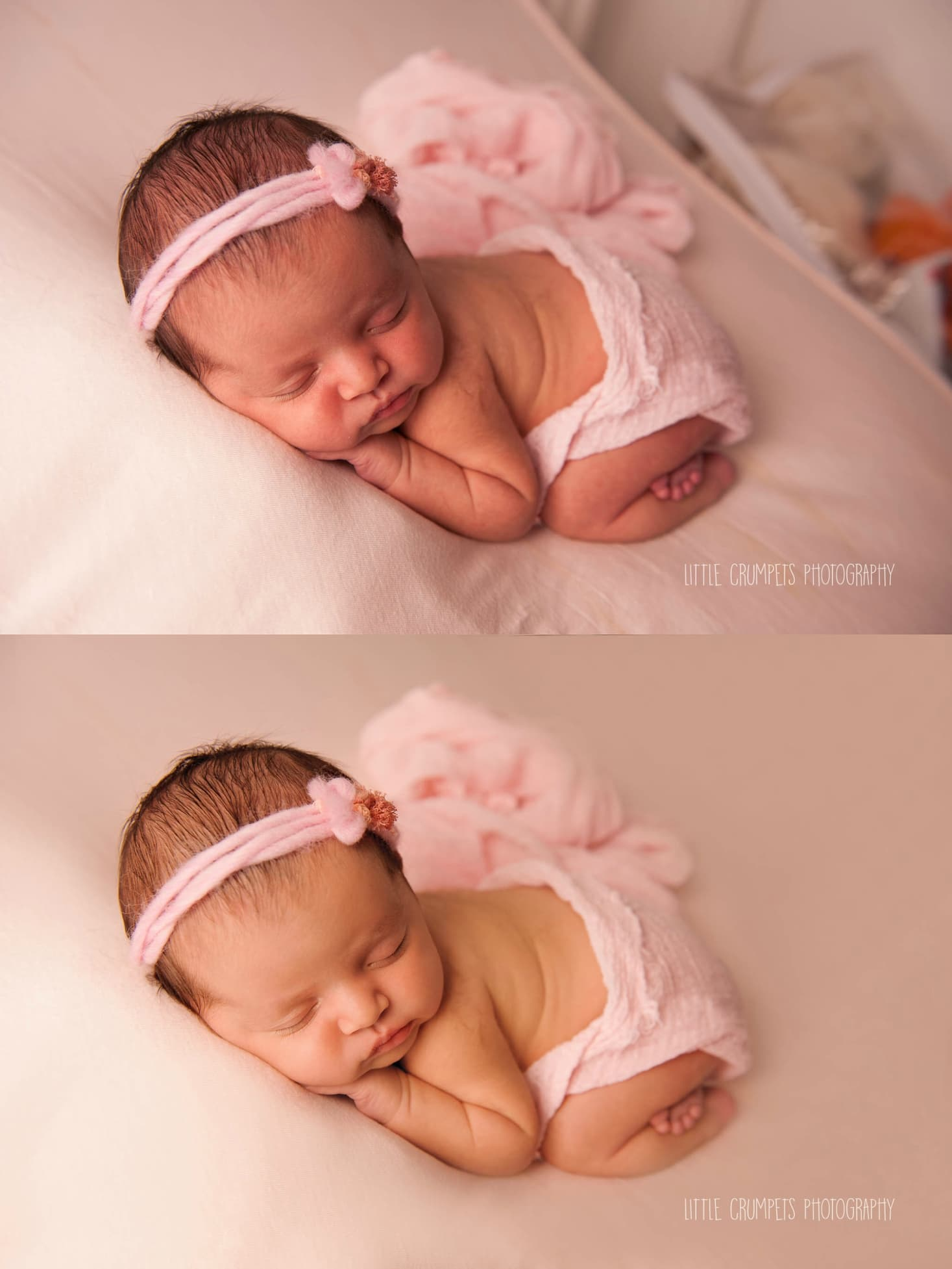 London newborn baby photographer before after editing