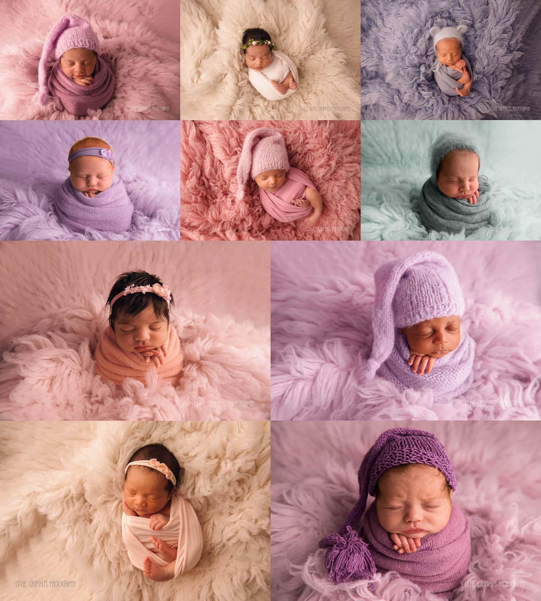 Flokati newborn props